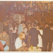 """La """"Cosa """" 1969- Luis """"El Lobo"""", Juan Rosa """"El Rana"""", Pepe Vergara, Pichi y yo en la Discoteca Galaxi."""